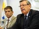 Canciller Rodolfo Nin Novoa junto al Vicepresidente de la República, Raúl Sendic