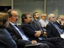 Autoridades asistentes a la conferencia