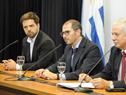 Presidente de la Junta Nacional de Drogas (JND), Juan Andrés Roballo, haciendo uso de la palabra