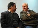 Intendente de Canelones, Yamandú Orsi, junto a ministro Víctor Rossi