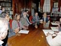 Reunión previa a la firma