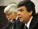 Director de la Policía Nacional, Mario Layera, haciendo uso de la palabra