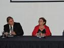 Atilio Rodríguez, Edith Moraes y Álvaro Malmierca