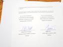 Documento firmado por ambos ministros
