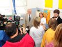 Vázquez dialoga con maestras de las escuelas N.º 9 Aureliano Rodríguez Larreta y la escuela N.º 104 Yugoslavia