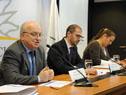 José Clastornik, Juan Andrés Roballo y Laura Nalbarte
