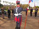 Llegada de Vázquez a la celebración del 206.º aniversario del Ejército