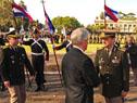Vázquez es recibido por el comandante en jefe del Ejército, Guido Manini Ríos
