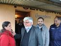 Ministro Bonomi con vecinos locales