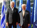 Presidente Tabaré Vázquez es recibido por el director general de la OIEA, Yukiya Amano
