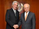Presidente Tabaré Vázquez y el director general de la OIEA, Yukiya Amano