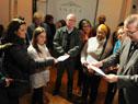 Momento de entrega de certificados a taller de Abordajes de Conflictos en el Ámbito Comunitario