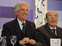 Presidente de la República, Tabaré Vázquez e Intendente de Montevideo, Daniel Martínez