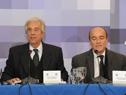 Presidente de la República, Tabaré Vázquez, haciendo uso de la palabra
