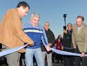 Corte de cinta inaugural del nuevo puente sobre el Canal Andreoni