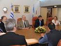 Reunión del Canciller Rodolfo Nin Novoa con integrantes de la Comisión Técnica Mixta de Salto Grande