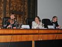 Fabiana Goyeneche, directora del Departamento de Desarrollo Social de la Intendencia de Montevideo, haciendo uso de la palabra