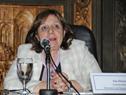 Ana Olivera, subsecretaria del Mnisterio de Desarrollo Social, haciendo uso de la palabra
