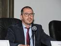 Prosecretario de la Presidencia de la República, Juan Andrés Roballo, dirigiéndose a los presentes