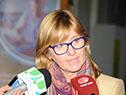 Subsecretaria Cristina Lustemberg dialoga con la prensa