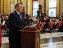 Ministro de Relaciones Exteriores, Rodolfo Nin Novoa, fue el orador principal del acto