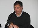 Director de Movilidad de la Intendencia de Montevideo, Pablo Inthamoussu, dirigiéndose a los presentes