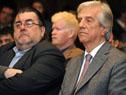 Presidente de la República, Tabaré Vázquez, escucha la presentación junto a otras autoridades
