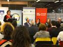 La ministra de Educación, María Julia Muñoz, encabezó la presentación de la biblioteca digital accesible