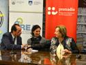 La ministra de Educación, María Julia Muñoz encabezó la presentación de la biblioteca digital accesible