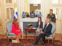 Presidente Tabaré Vázquez dialoga con la princesa de Jordania Dina Mired