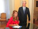 Vázquez recibe, de manos de la princesa de Jordania Dina Mired, la distinción de embajador del Proyecto C/Can 2025
