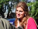La princesa de Jordania Dina Mired dialoga con la prensa