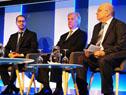 Roballo, Vázquez y Clastornik en la celebración del décimo aniversario de creación de la Agencia de Gobierno Electrónico