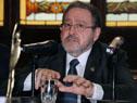 Ministro de Suprema Corte de Justicia, Jorge Chediak, dirigiéndose a los presentes