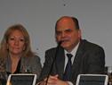 Presidente de Antel, Andrés Tolosa, haciendo uso de la palabra