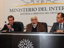 Ministro del Interior, Eduardo Bonomi, haciendo uso de la palabra