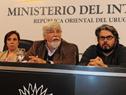 Ministro del Interior, Eduardo Bonomi, durante su oratoria