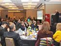 Ministro de Economía y Finanzas, Danilo Astori, diserta en el desayuno de la revista Somos Uruguay