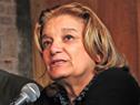 Ministra Eneida de León, haciendo uso de la palabra
