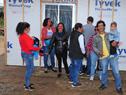 Vecinos del barrio T15, beneficiarios de las viviendas