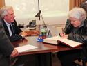 Presidente Tabaré Vázquez junto a vicepresidenta Lucía Topolansky