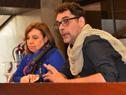 Subsecretaria, Ana Olivera, y Federico Graña, del Mides
