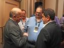 José Clastornik, junto a autoridades de LACNIC, al finalizar la actividad