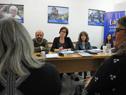 Autoridades del Mides, durante las audiencias en Rocha