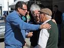 Intendente de Rocha, Aníbal Pereyra, junto a exintendente de Rocha, Artigas Barrios