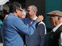 Intendente de Rocha, Aníbal Pereyra, junto a prosecretario de Presidencia, Juan Andrés Roballo, y a exintendente de Rocha, Artigas Barrios