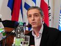 Presidente de la Agencia Nacional de Desarrollo, Martín Dibaboure, dirigiéndose a los presentes