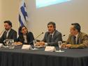 Álvaro García, director de la Oficina de Planeamiento y Presupuesto, haciendo uso de la palabra
