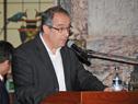 Presidente de la Cámara de Representantes, José Carlos Mahía, haciendo uso de la palabra