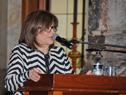 Directora de Educación del Ministerio de Educación y Cultura, Rosita Ines Ángelo, haciendo uso de la palabra
